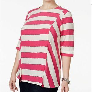 Melissa McCarthy Seven7 Striped Blouse 2X NWT